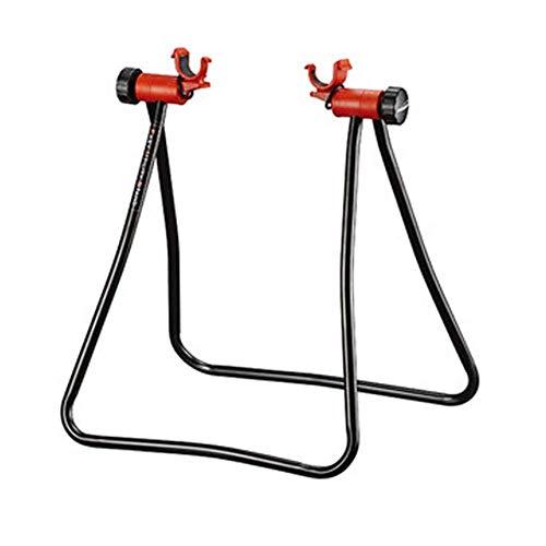 JKUNYU Accesorios Reparar el soporte de estacionamiento con marco de acero, soporte de bicicleta, altura ajustable, cubo de rueda triple, soporte de bicicleta de mecánico plegable para almacenamiento