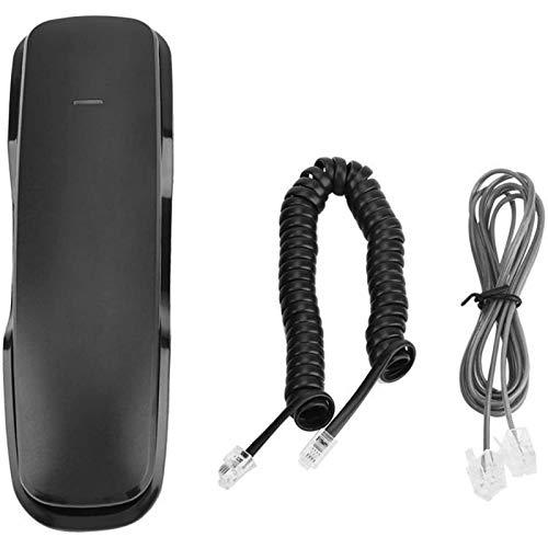 ZARTPMO Teléfono Fijo Fijo Teléfono Fijo Fijo Teléfono Inteligente Mini Teléfono Portátil Teléfono De Pared Teléfono Colgante 2 En 1 Teléfono con Botón Pulsador para El Hogar