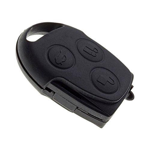 JONGO - Coque de Clé sans Lame Compatible avec Ford Ka, Fiesta, Focus, Fusion, Mondeo, Puma, Cougar, C-Max, S-Max, Galaxy, Transit, Transit Connect - Télécommande 3 Boutons
