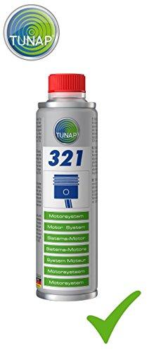 Tunap 321 Motorsystem Protection contre l'usure 300 ml Huile moteur Additif pour toutes les huiles moteur à base de minéraux et d'huile de synthèse