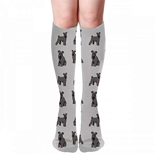 hdyefe Kerry Blue Terrier Perro Kerry Blue Terrier Kerry Blue Terrier Perro, Perro Razas de perros Perro lindo Gris Novedad Moda Calcetines hasta la rodilla Medias Medias Calcetines al aire libre