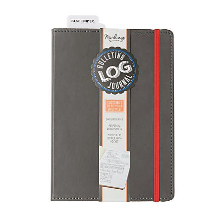 Markings by CR Gibson Bulletin Log Journal 240 Grid Pages MJ127-20191 9 x 6 inches