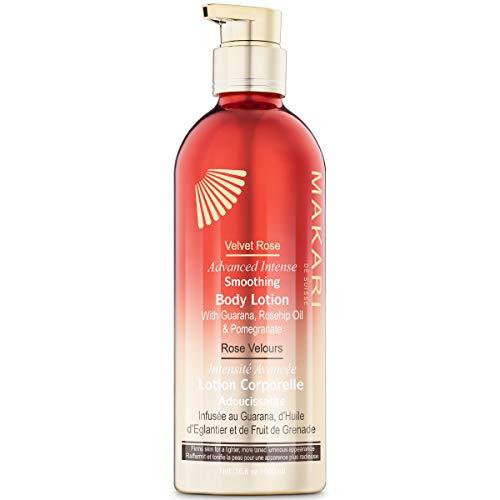 418pCKQQTRL - Makari Velvet Rose Advanced Intense Smoothing Body Lotion | Anti-Aging Moisturizing, Brightening & Firming Cream w/Guarana, Rosehip Oil, Pomegranate & Collagen | For Cellulite & Stretchmarks | 16.8oz