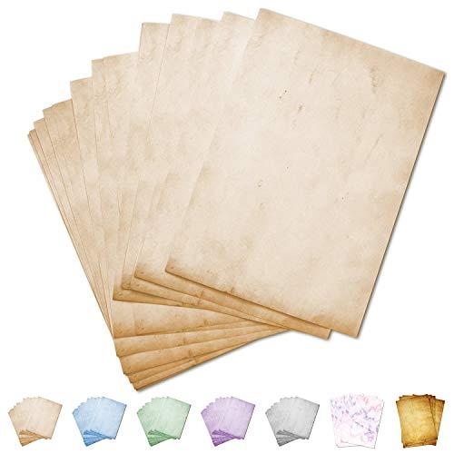 Partycards 50 Blatt Briefpapier doppelseitig, Mamor Beige, A4, 90 g/m²