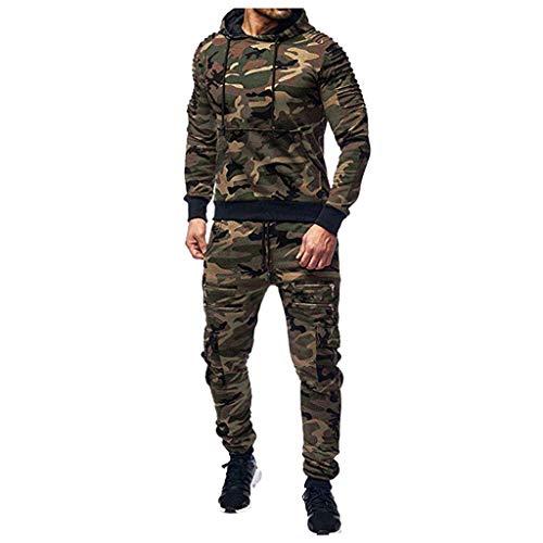 LoveLeiter Herren Jacke Kapuzen Windbreaker Camouflage Casual Hoodie Sportswear Laufjacke Sweatjacke Pullover Kapuzenpulli Tops Mantel Outwear Trainingsanzug MäNner Jogging Anzug Sweatshirt