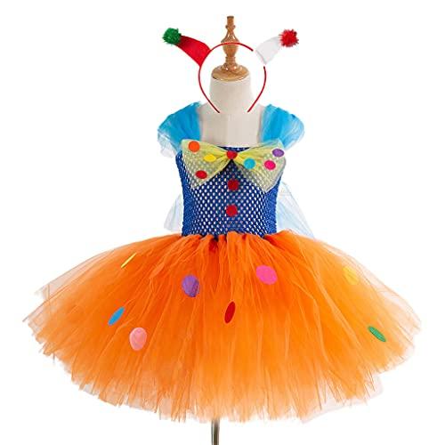 HANBOLI Disfraz de Navidad para nias, Vestido de tut con aro para el Pelo, Juego de Roles, Trajes de Payaso