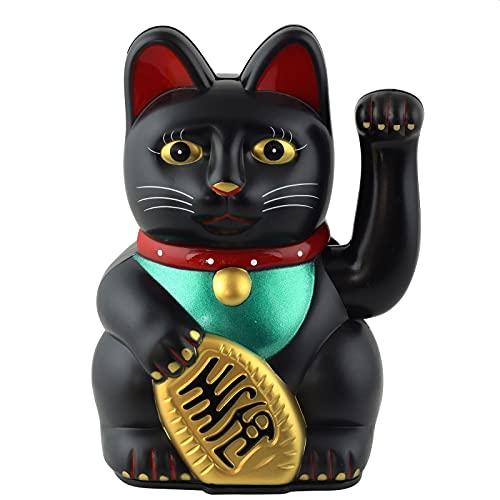 Superfreak Glückskatze - Maneki-Neko - Winkekatze - 13 cm - schwarz