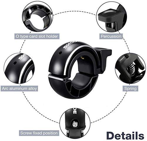 SGODDE Fahrradklingel,O Design Fahrradglocke Laut, Mini Aluminiumlegierung Innovative Fahrrad Ring Q Bell Radfahren Fahrrad Klingel Glocke MTB Mountainbike Alarm Horn Ring, für 22.2-24mm Lenker - 4
