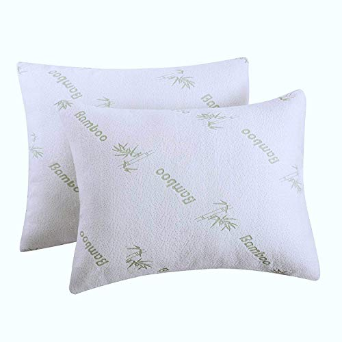 2 Pack Bamboo Pillow Protectors King 20x36Inches Pair