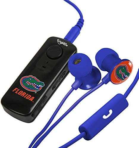 AudioSpice Florida Gators Bluetooth Receiver and Scorch Earbud with Mic Combo Plus BudBag Storage product image