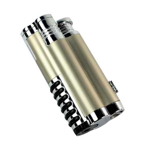 Gentleman's Triple Torch Cigar Lighter With Retractable Hole Punch #110