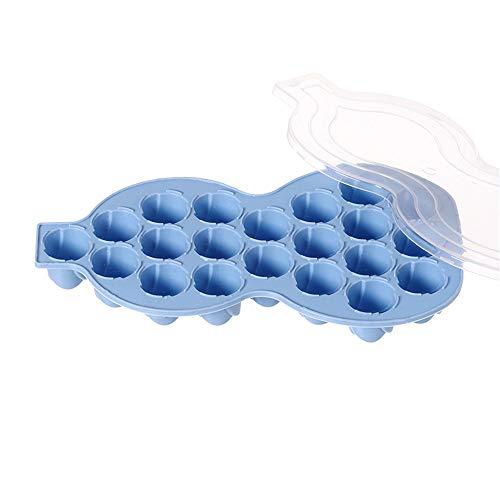 Moule à glaçons en forme de gourde 21 cubes de glaçons bleu