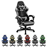 Soontrans Computer Chair Ergonomic Office Chair PC Gaming Chair Racing Chair for Gaming E-Sports Chair with High-Back,Adjustable Headrest and Lumbar Support(Galaxy Grey)