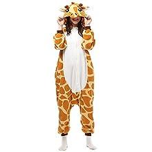 Pijamas Cosplay Traje Disfraces Unisexo Adulto Animal Ropa de Dormir Halloween Marrón Talla 160-169cm(M)