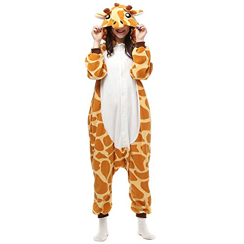 Pijamas Cosplay Traje Disfraces Unisexo Adulto Animal Ropa de Dormir Halloween Marrón Talla 146-159cm(S)