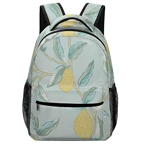 Zaino per ragazzi e ragazze, zaino per bambini, borsone, limoni gialli sull'albero.