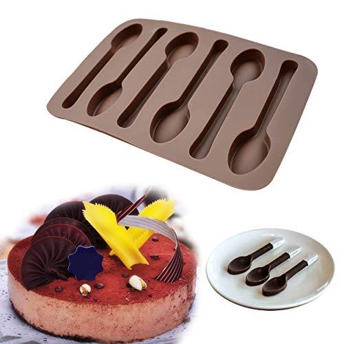 Accesorios de Cocina, Herramienta, Forma de Cuchara, Molde de Chocolate, Molde para Hornear, moldes de Silicona, Molde para jabón de gelatina, Plantilla para Tartas DIY