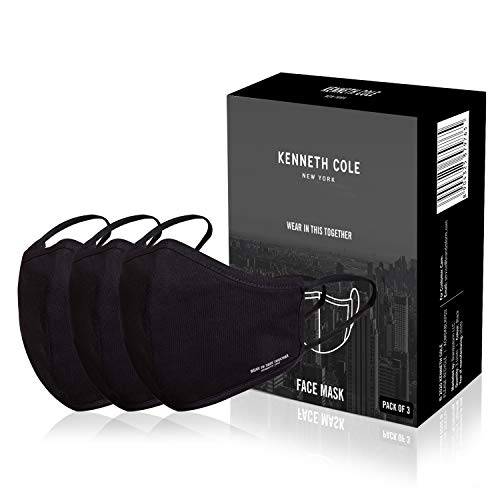 Kenneth Cole BLACK 100% Cotton Anti Pollution Anti Heat Anti Dust AntiBacterial Respirator Mask SITRA Approved 6 Layer Reusable Outdoor Face Mask PACK OF 3