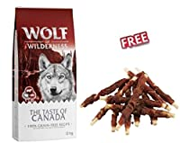 This is a complete dry dog 12kg food and suitable for dogs of all breeds and sizes. With a total of 40% fresh meat typical to the wild wolf's regional prey With Canadian linseed, cranberries, healthy beans and pulses 100 % grain and gluten free so su...