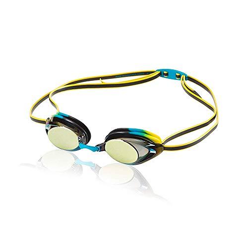 Speedo Jr. Vanquisher 2.0 Mirrored Swim Goggle, Vivid Teal, One Size