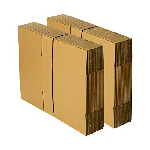 uno strato Marrone CARTONE cartone pieghevole 400 x 300 x 200 mm 100