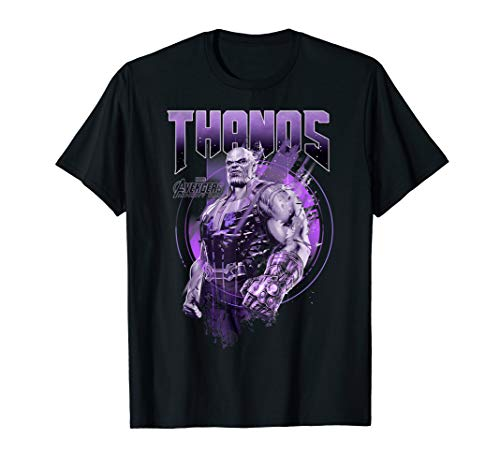 Marvel Infinity War Thanos Purple Distressed Graphic T-Shirt