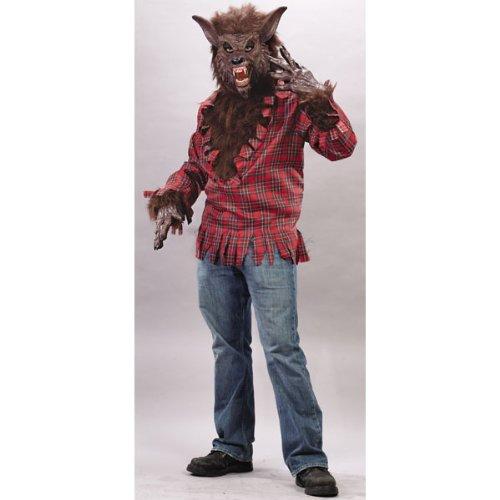 Fun World Werwolf Kostüm Braun - Einheitsgröße für Erwachsene