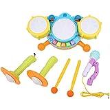 Ponacat Strumenti Musicali Giocattoli a Tamburo Set di Giocattoli Educativi Educativi per Batteria con Apprendimento Precoce