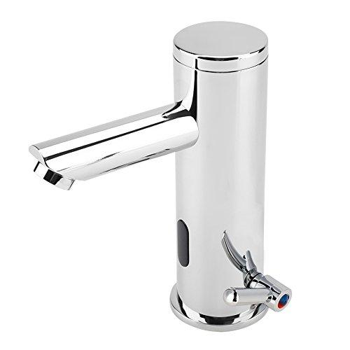 Fdit Infrarot Sensor Wasserhahn Touch-Free Automatische Abschaltung Wasserhahn Wassereinsparung Induktive Elektrische Wasserhahn Heiße Und Kalte Becken Mixer für Badezimmer Küche Toilette