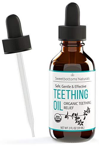 Certified Organic Teething Oil - Ease Pain, Swelling &...