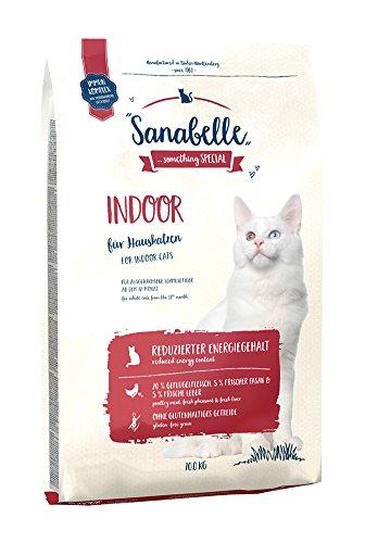 Sanabelle Indoor | Katzentrockenfutter für ausgewachsene Katzen (ab dem 12. Monat) | besonders geeignet für Hauskatzen und Katzen mit reduziertem Bewegungsumfang | 1 x 10 kg
