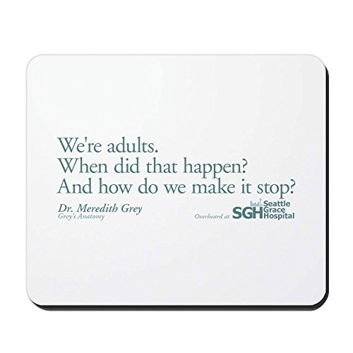We're Adults - Grey's Anatomy - Non-Slip Rubber Mousepad, Gaming Mouse Pad 1822cm