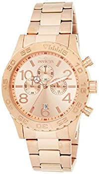 Invicta Men s Specialty Rose Gold Tone Stainless Steel Quartz Chronograph Watch Gold  Model  1271