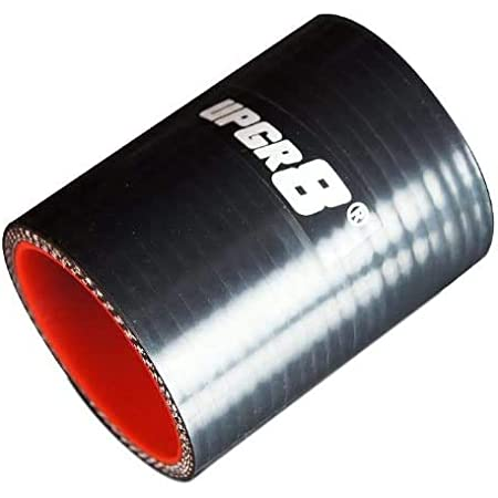 Upgr8 Universal 4-Ply High Performance Straight Reducer Coupler Silicone Hose to 1.5 32MM 1.25 38MM , Black