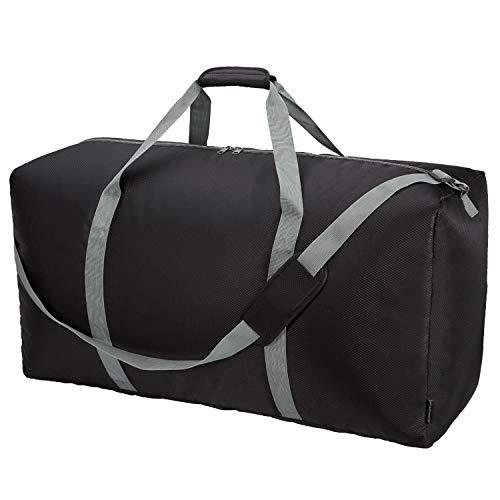 Extra große Reisetasche, 82,5 cm, Übergröße, 9 Farben zur Auswahl, Schwarz (Schwarz) - RML00102