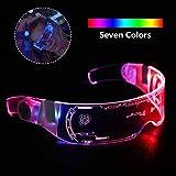 LED発光メガネ-十個未来的な電子式日除けメガネは、クリスマスパーティー、バー、カーニバル、パーティーパフォーマンスなどのためにワイヤレスでサングラスを照らします。