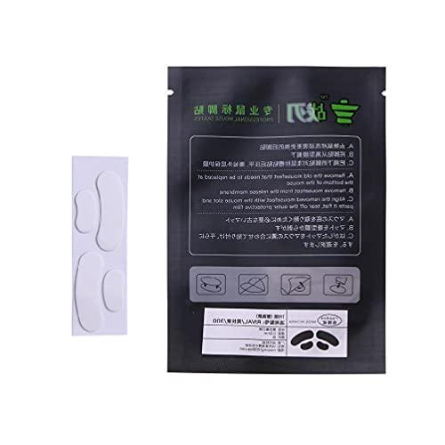SHAOKAO 1 Set Maus-Schlittschuhe Gleitfüße Pads Maus-Füße Aufkleber für Steelseries RIVAL 300 300S Maus weiß abgerundete abgerundete abgerundete Ecken Maus-Skates