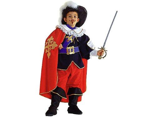 Clown Republic- D'Artagnan Costume, CS34604/6, Multicolore, 6 Ans