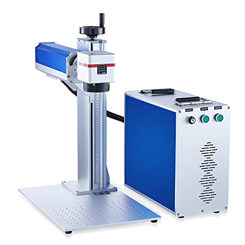 OMTech 50W Fiber Laser Engraver and Cutter Machine for Metal With EzCad2 Galvo Lens And Red Dot Guide