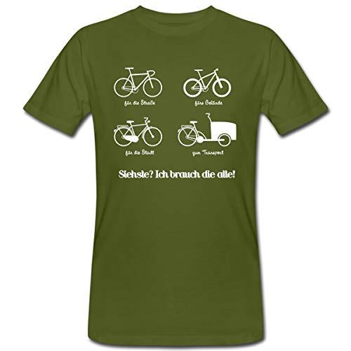 Fahrräder Bikes Ich Brauch Die Alle Männer Bio-T-Shirt, L, Moosgrün