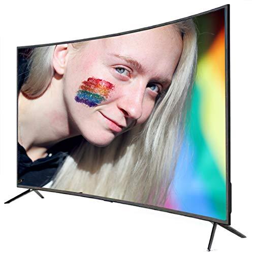 CHARON Televisor De Pantalla Curvada De La Red Inteligente A Prueba De Explosiones De 42 Pulgadas 4K LCD TV LED, Proyección De Pantalla De Tabletas
