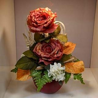 Home design - composizione fiori finti arancione grande