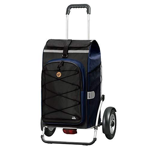 Andersen Shopper Royal Plus Alu klappbar mit Luftreifen Ø 25cm und 72 Liter Tasche Fado 2.0 mit Kühlfach blau