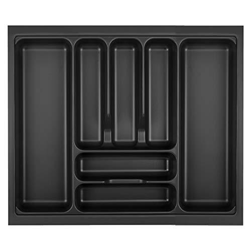 Orga-Box VIII Besteckeinsatz 511 x 480 mm Lavagrau mit Perlstruktur für 60er Schränke in Häcker Küchen Besteckaufbewahrung