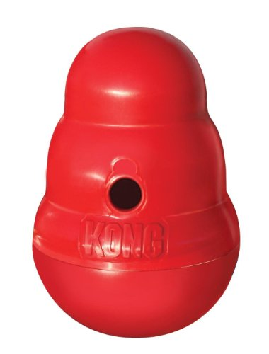 KONG Wobbler Hundespielzeug, befüllbar mit Snacks, L