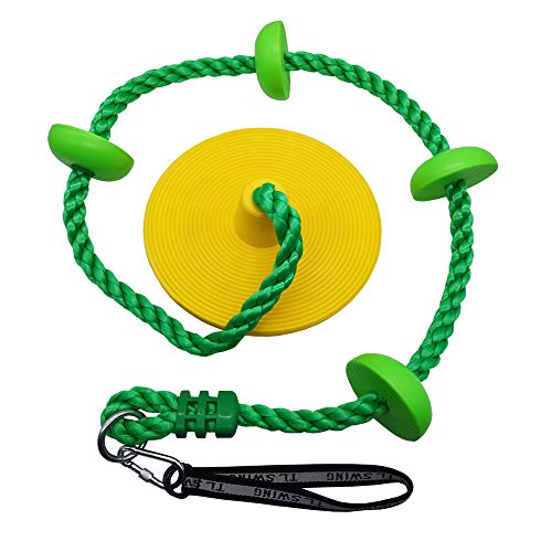 Cheapest Prices! LONGTAI Climbing Rope Tree Swing Set with Multicolor Platforms and Disc Swings Seat...