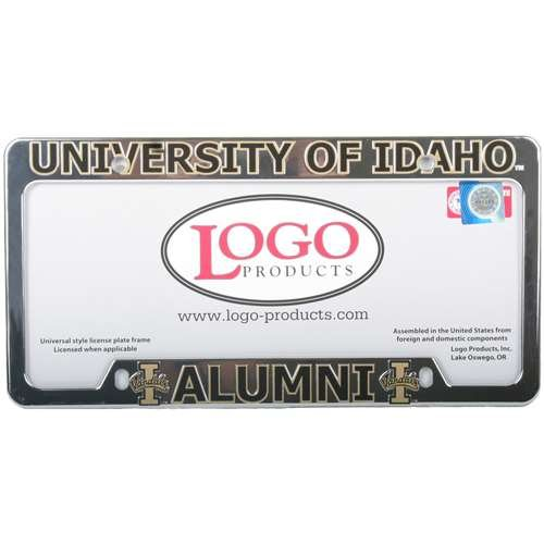 Logo Products Idaho Vandals Alumni Chrome Plastic License Plate Frame