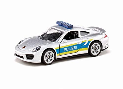 siku 1528, Porsche 911 Autobahnpolizei, Metall/Kunststoff, Silber, Öffenbare Türen