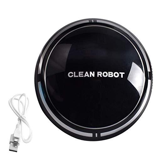 Aspiradora, USB Aspirador recargable robots automáticos, super tranquilo, anti-caída, succión fuerte, oficina en casa o equipo de barrido, Negro xjdmg (Color : -, Size : -)