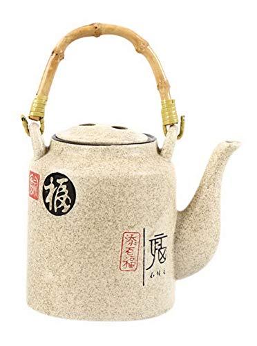 Koala Superstore Teiera Nostalgica di terracotta vecchio vaso con manico in bambù, 28 once, modello Fu